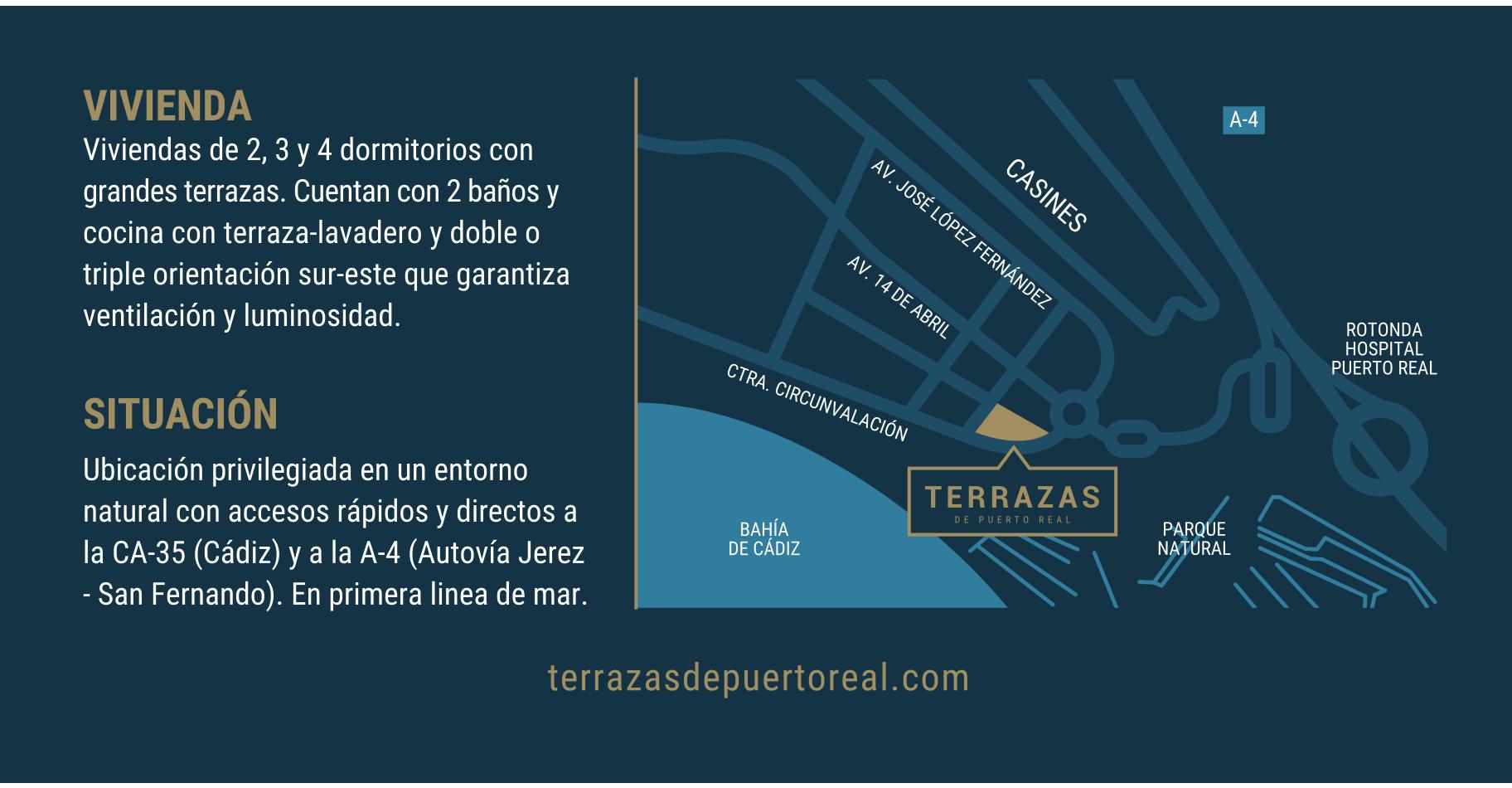 ubicación terrazas puerto real